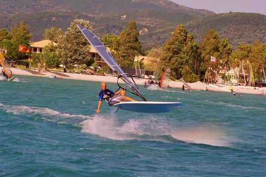 Visit Greece | Lefkada, the paradise of sea sports #watersports #activities #summer #sports #windsurfing