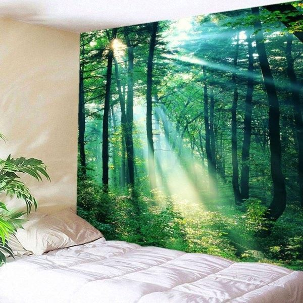 RoseWholesale - Rosewholesale Sunlight Forest Wall Hanging Tapestry - AdoreWe.com
