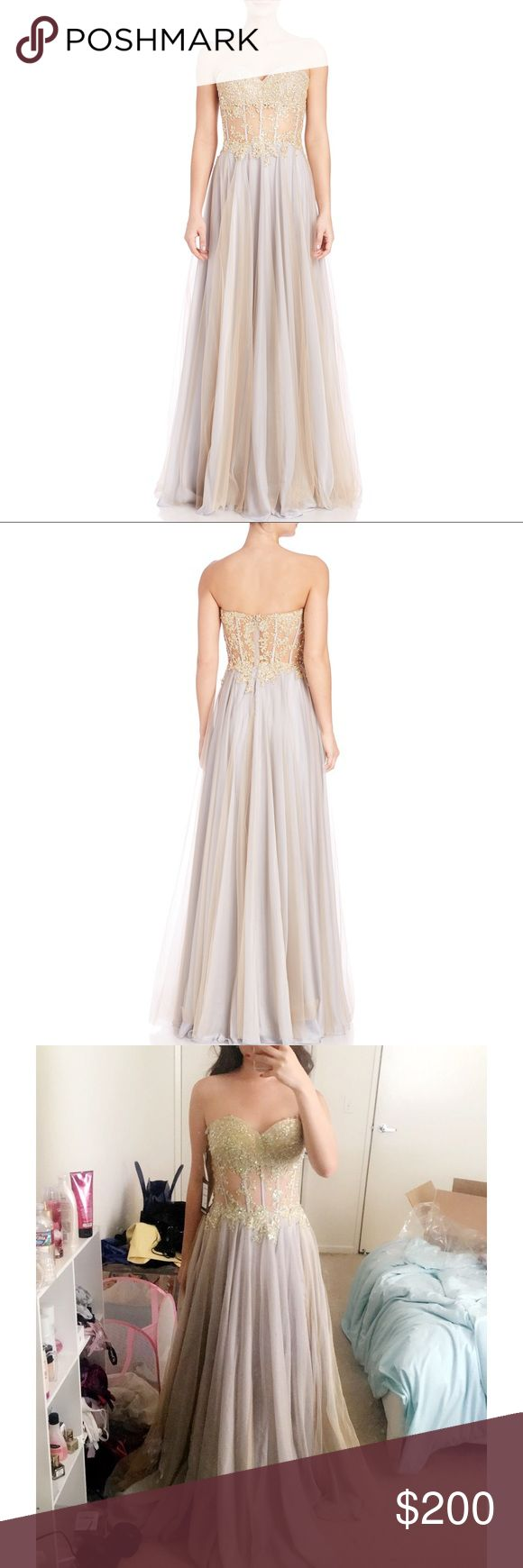 La Femme Prom Dress (size 0) La femme tulle corset bodice gown. Only worn once! La Femme Dresses Prom