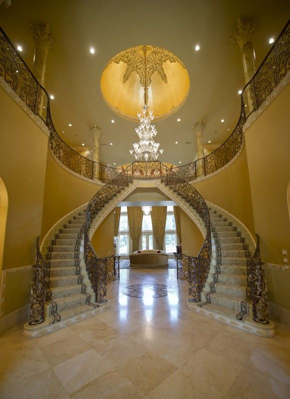 25 best ideas about luxury staircase on pinterest for Luxury staircase design