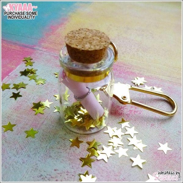 GLÜCK IM GLAS - MIT STERNEN - BESONDERES GESCHENK von handmade by shiricki auf DaWanda.com