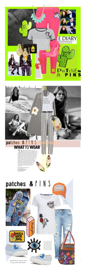 """""""Winners for Patch It, Pin It, Perfect!"""" by polyvore ❤ liked on Polyvore featuring STELLA McCARTNEY, Hipstapatch, WithChic, Yves Saint Laurent, PINTRILL, Christian Louboutin, INC International Concepts, patchesandpins, Anya Hindmarch and Express"""