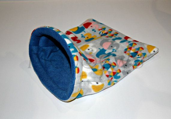 Fleece cuddle sack/bed guinea pig baby rabbit