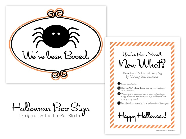 Our latest free printable Halloween BOO sign is up on the eighteen25 blog today!