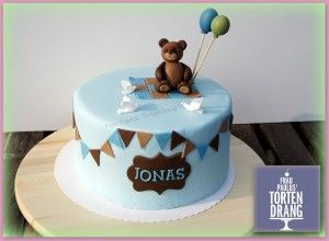 Tauftorte Bär Cake bear russischer Winnie Pooh Anleitung Tutorial