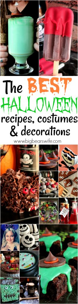 The BEST Halloween Recipes, Decorations and Costumes - Love Halloween? Halloween is my favorite holiday and I've got the recipes and crafts to prove it! Find all of the BEST Halloween recipes and crafts here!