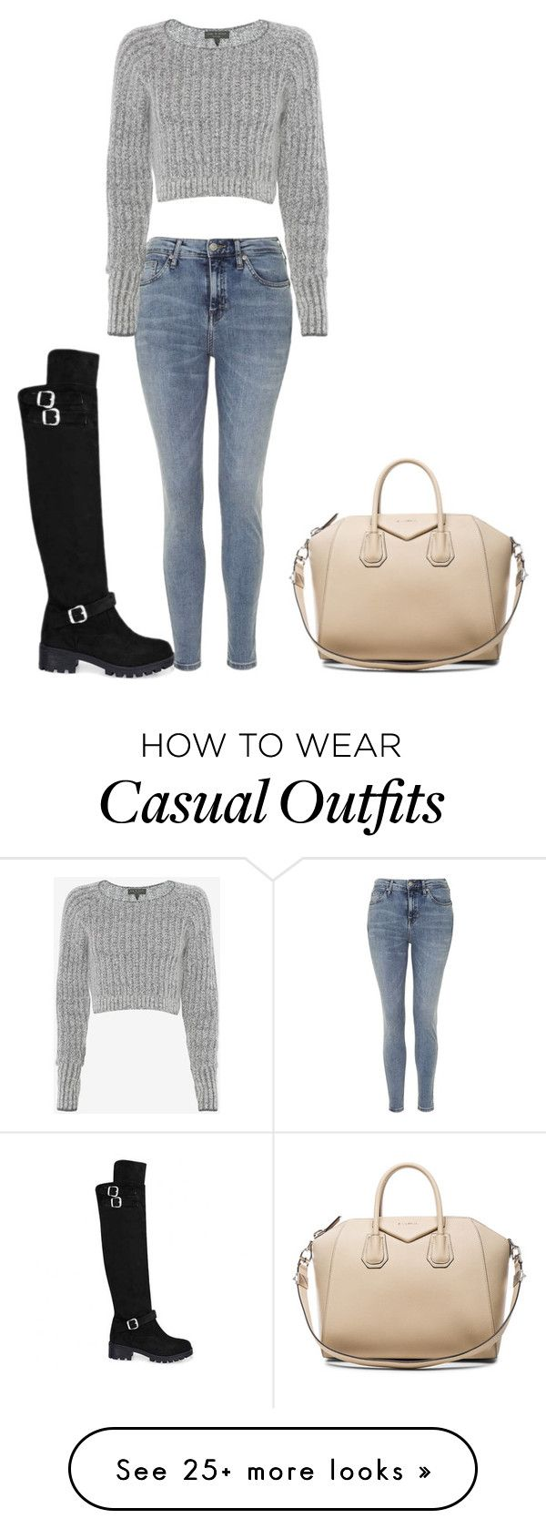 """Casual"" by hyspanicprincesa on Polyvore featuring Topshop, rag & bone, Givenchy, women's clothing, women's fashion, women, female, woman, misses and juniors"