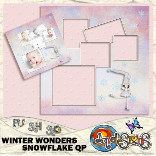 JQD Winter Wonders Snowflake QP