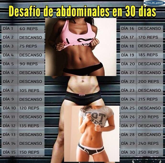 Abdominales reto retos pinterest abdominales - Ejercicios para adelgazar barriga en casa ...