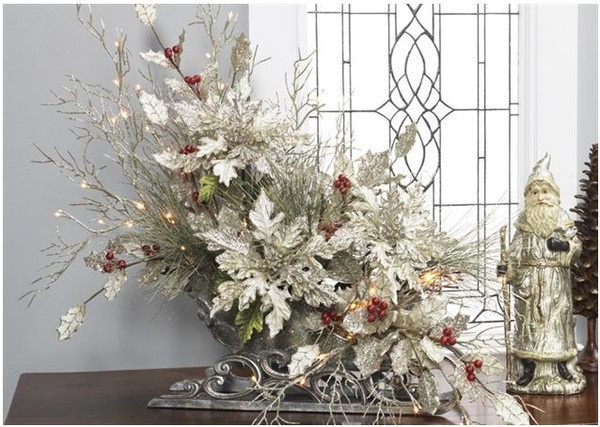 Royal spruce floral arrangement like this idea