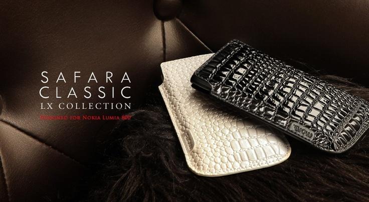 Safara Classic Lx Collection for Nokia Lumia 800 - A classy leather cases for your Nokia Lumia 800