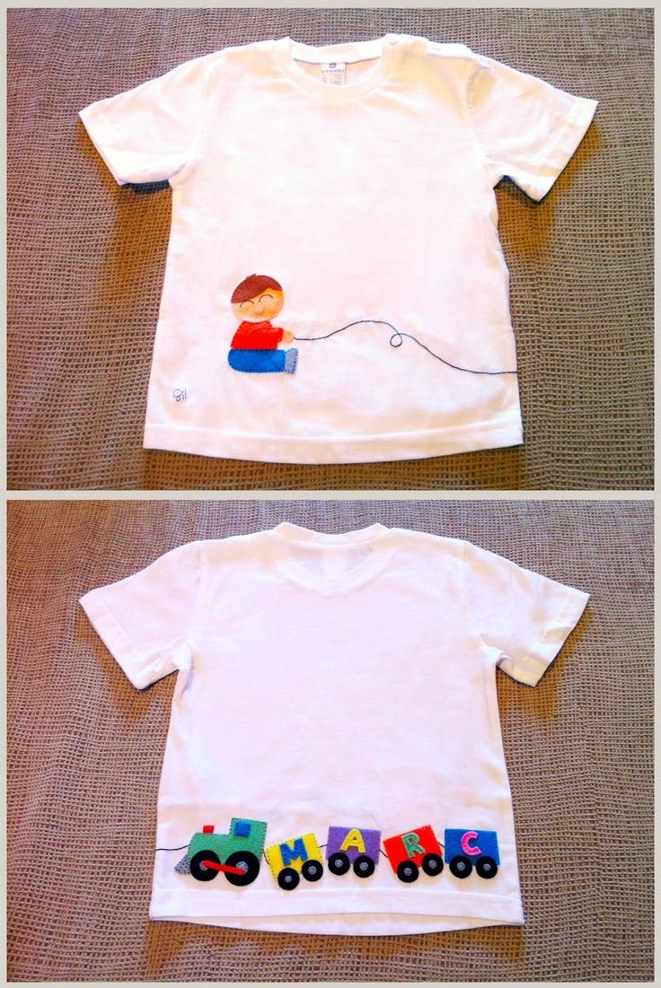 Camiseta de niño con trenecito
