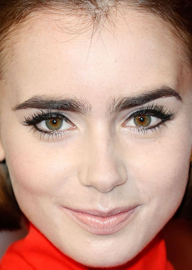 Close-up of Lily Collins' high-drama eye look. http://beautyeditor.ca/2014/10/11/liquid-liner-under-eyes-lily-collins