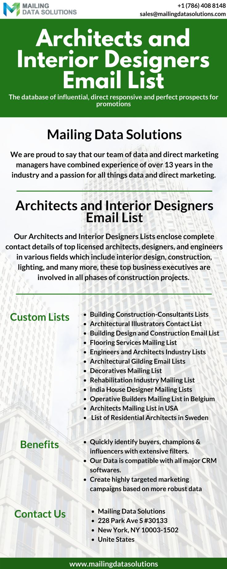 Reach The Top Business Professionals Through Architects And Interior Designers Email Lists