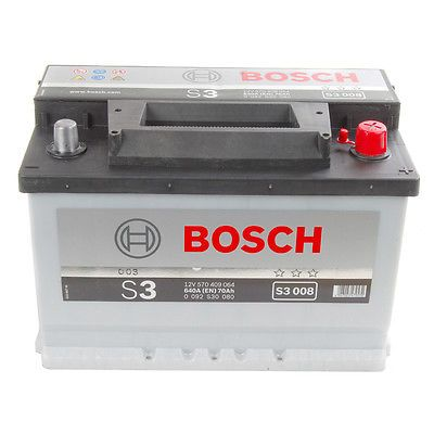 Type 800 Car Battery 760CCA Bosch 12V 70Ah 3 Years Wty Sealed OEM Replacement