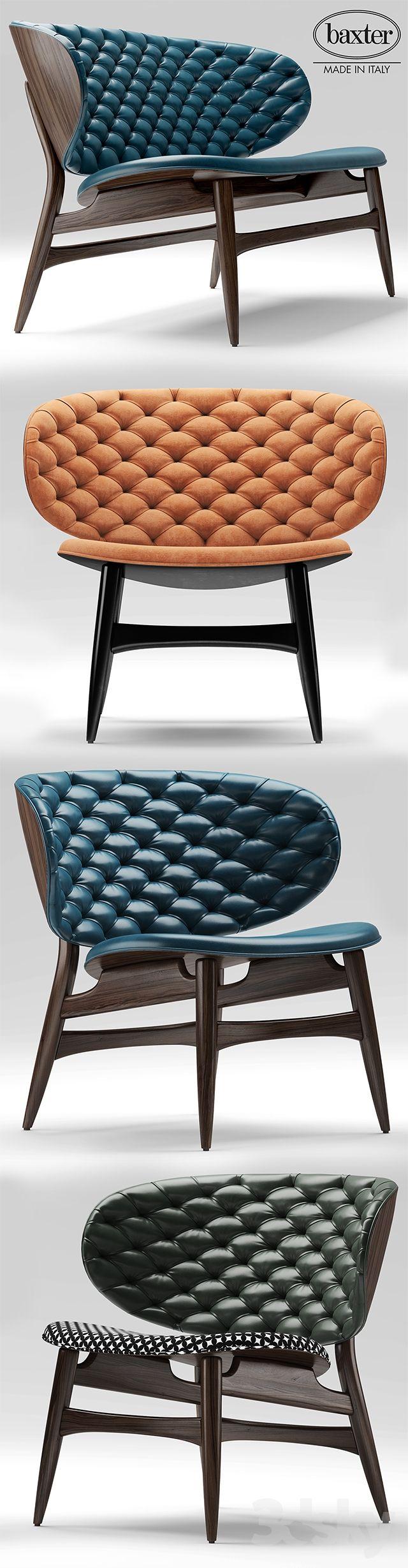 3d models: Sofa - Sofa and chair baxter DALMA