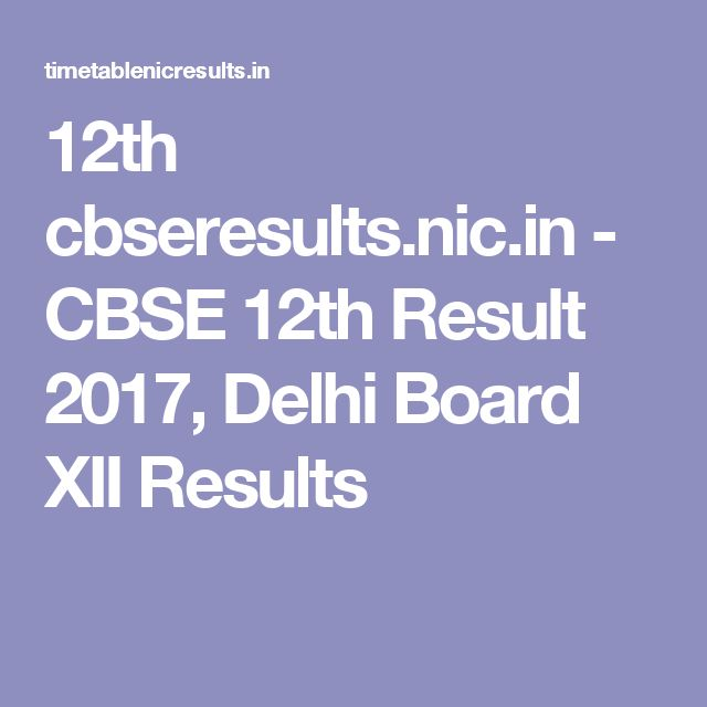 12th cbseresults.nic.in - CBSE 12th Result 2017, Delhi Board XII Results