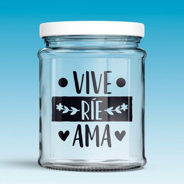 Vinilos Decorativos: Vive, ríe, ama 0