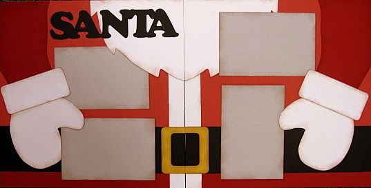 Santa - what a cute and easy layout to recreate.