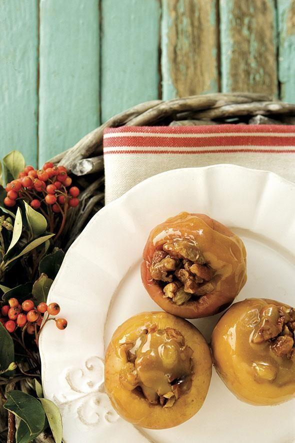 Przepisy na Halloween - pieczone jabłka z nadzieniem toffi