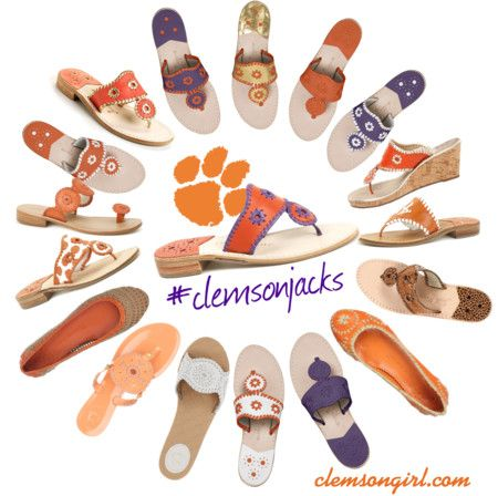 Clemson Girl Giveaway - Clemson Girls love Jack Rogers sandals! Win a pair of Jack Rogers orange and purple Navajo jacks!