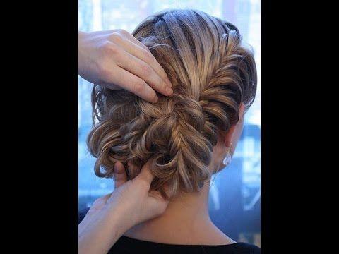 Прическа коса с челкой