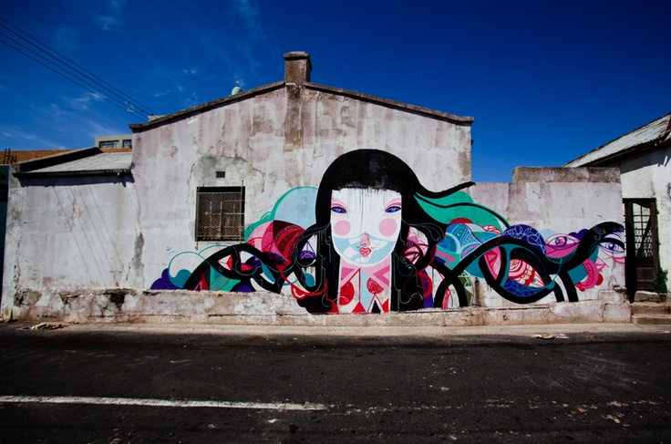 From I Art Woodstcok community mural project in Woodstock, Cape Town.
