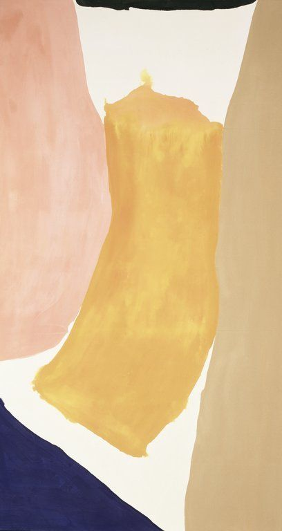 Alloy, Helen Frankenthaler  I can't get enough of her work, these colors and use of negative space bouncing back and forth between forms are fantastic.