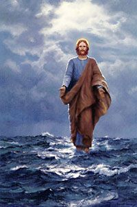 """""""Jesus Walking on the Sea"""", by Charles Vickery. """"And Jesus was a sailor...when he walked upon the water""""...Leonard Cohen"""