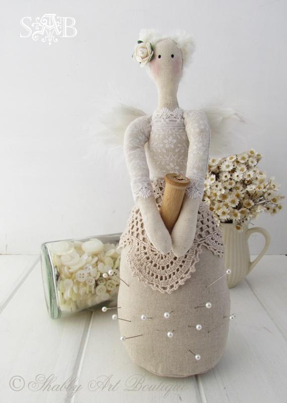 Shabby Art Boutique Pin Cushion Angel 4