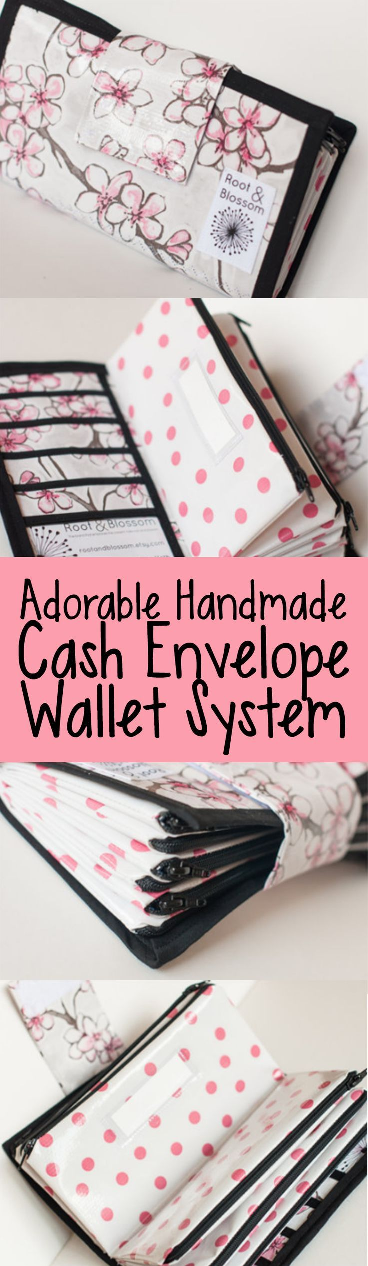 omgosh. this Dave-Ramsey style cash envelope wallet is SO adorable! ♥
