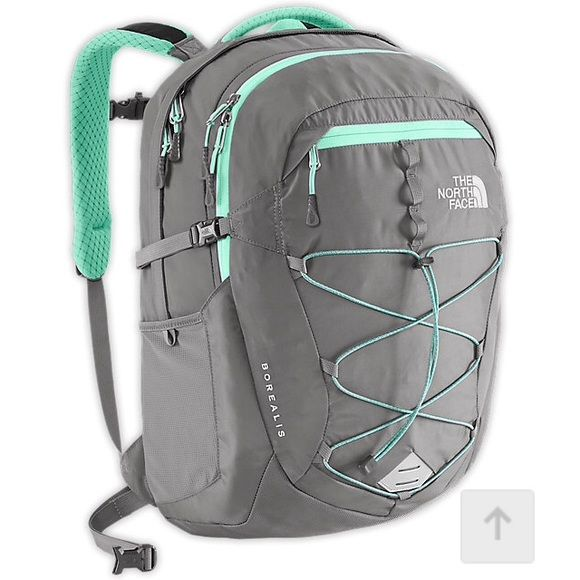 North Face Backpack Borealis. Zinc grey/surf green. Perfect condition. I used for a few months but I want a different color. The North Face Bags Backpacks