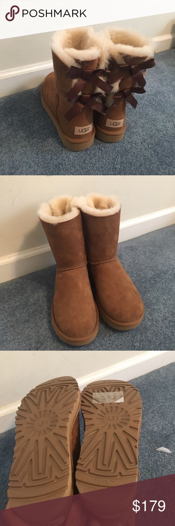 NWOB Bailey bow II Chestnut uggs Chestnut color Brand new  Never worn Beautiful UGG Shoes Winter & Rain Boots