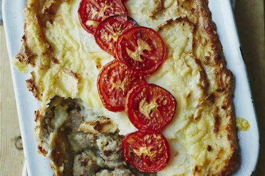 Sausage, cheese and potato pie recipe
