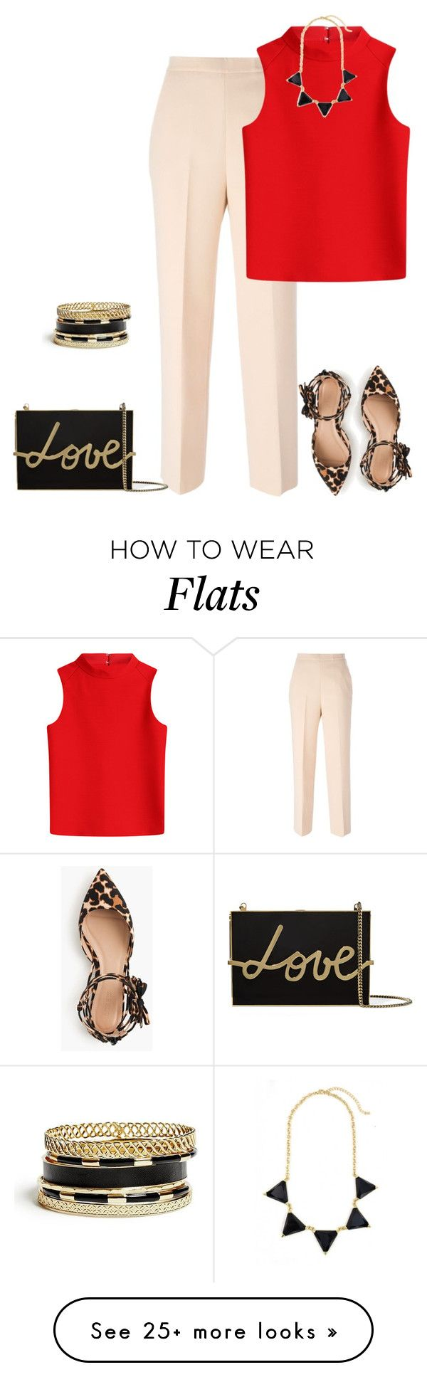 """""""outfit 3009"""" by natalyag on Polyvore featuring MSGM, Courrèges, J.Crew, Lanvin and GUESS"""