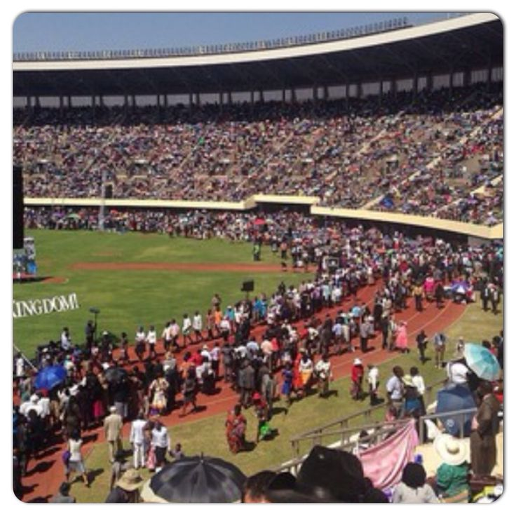 The line up for baptism at the Zimbabwe International Convention of Jehovah's Witnesses. @jbell_b_
