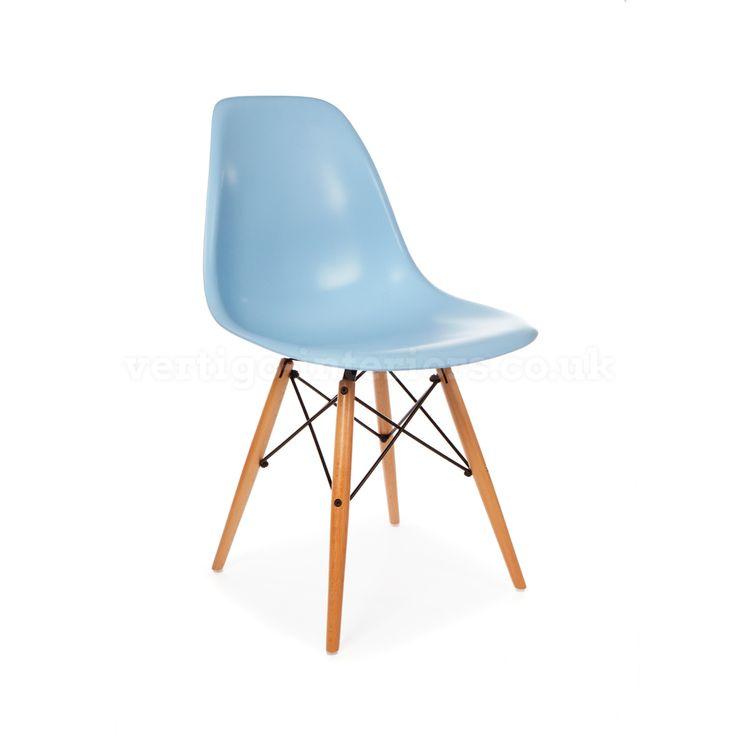 Superior Products   Vertigo Interiors USAEames Style DSW Chair   Blue   Vertigo  Interiors USA