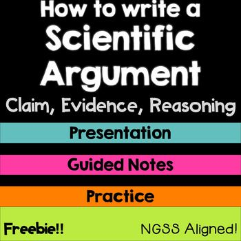 Tired of getting lackluster responses in science? Feeling down about your students' conclusions?!? Help them write meaningful responses and strong scientific arguments with this tool! This interactive presentation and student notes will guide your students through the 3 parts of a scientific argument - Claims, Evidence, and Reasoning.