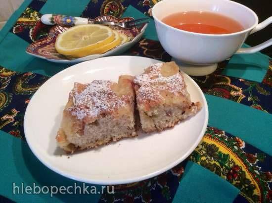 Яблочно-коричный кекс (пиццепечка Принцесс) Масло сливочное50 гр Сахар1 чашка Экстракт ванили1 ч л Мука1.5 чашки Разрыхлитель0.5 ч л Яйца3 шт Яблоки крупные5 шт Корица
