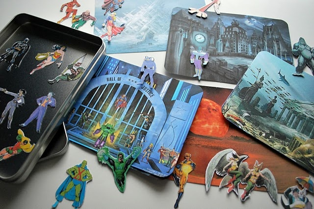 Magnetic Superhero playset: Guest Tutorials, Gifts Ideas, Stars War, Chez Beeper, Magnets Superhero, Superhero Magnets, Super Heroes, Beeper Bebe, Superhero Playset