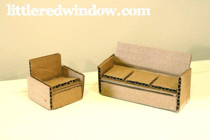 DIY Cardboard Box Doll House | littleredwindow.com | Make a sweet toy doll house from a recycled cardboard box!