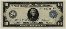 Series 1914 Cleveland $10 Ten Dollar Jackson Federal Reserve Note FR #919B  514A
