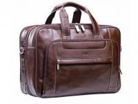 Executive leather laptop bag