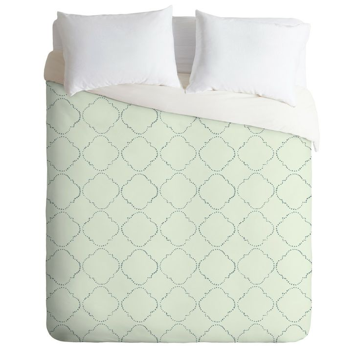 DOTTY GREEN Duvet Cover By Hadley Hutton