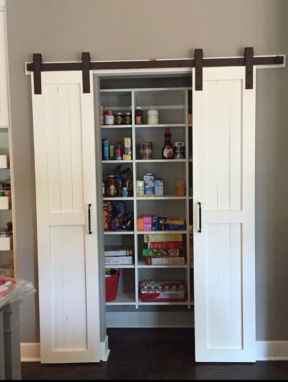 For The Laundry Room Closet In The Hall Way. Sliding Barn Door Style Pantry Doors  Door Only By RussBuilders