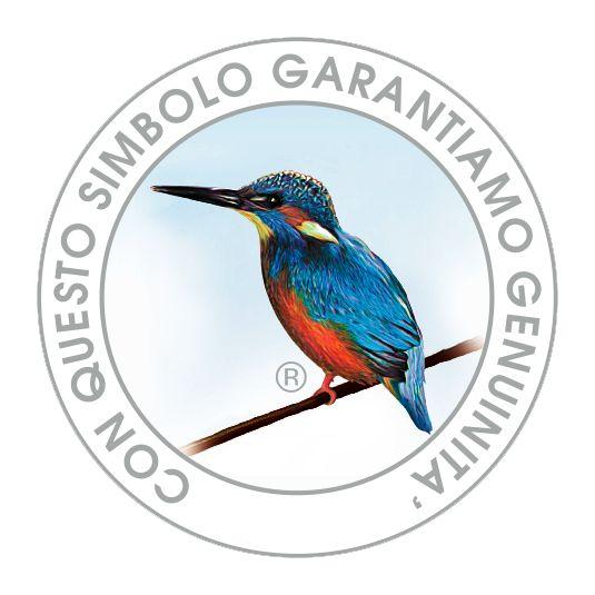 """Martin Pescatore, marchio di garanzia dell'azienda Milazzo che recita: """"con questo simbolo garantiamo genuinità"""" Azienda Agricola G.Milazzo - Terre della baronia"""