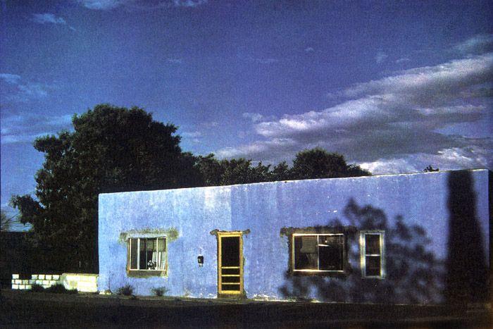Bernard Plossu. Deing, Nouveau-Mexique, 1981. Les images de cette série sont extraites du livre Plossu, Couleur Fresson, Théâtre de la Photographie et de l'Image / Nice Musées, 2007
