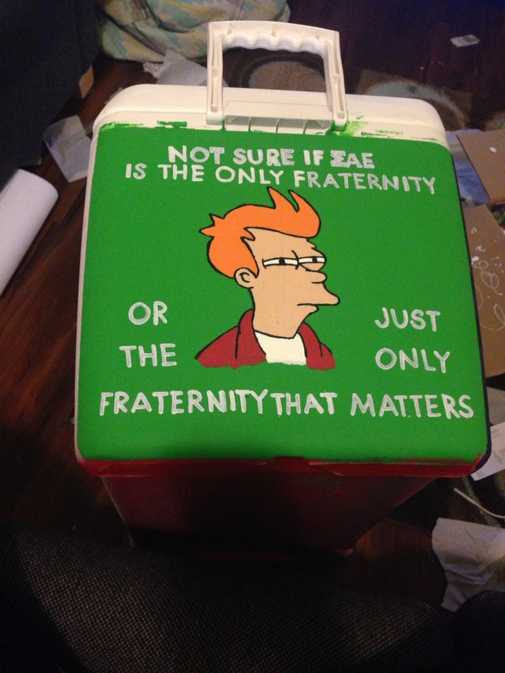 Fraternity coolers, mountain weekend coolers, painted coolers,