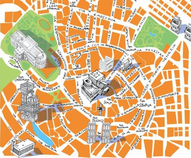 M<3 Milan Map | illustration by Carlo Stanga