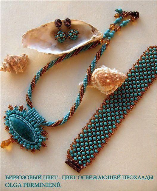 Вариации на тему (несколько работ с браслетом ндебеле по одной схеме) | biser.info - всё о бисере и бисерном творчестве